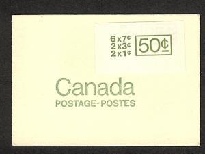 Canada  Booklet UNT cat # BK68b mnh