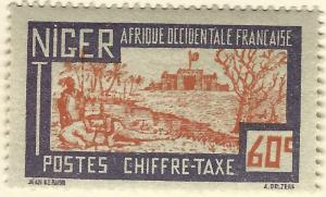French Niger Postage Due (Scott J18) Mint F-VF hr...Buy before prices go up!