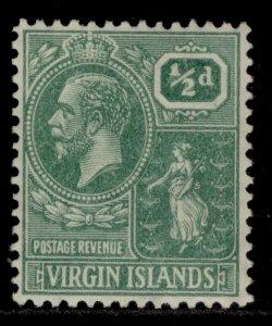 BRITISH VIRGIN ISLANDS GV SG86, ½d dull green, M MINT.