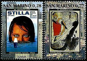 HERRICKSTAMP SAN MARINO Sc.# 1562-63 Europa '03 - Poster Art Mint NH