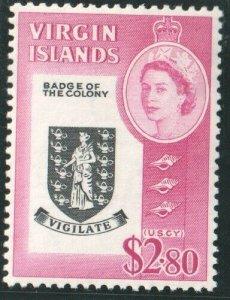 1964   BRITISH VIRGIN ISLANDS  - $2.80 BADGE OF COLONY - UNMOUNTED MINT