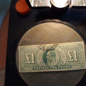 GB# 142 1 pound blue green