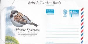 GB Aerogramme British Garden Birds Unused VGC