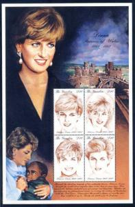 Gambia 1997 Sc 2014 Diana Princess of Wales SS/4 Stamp**