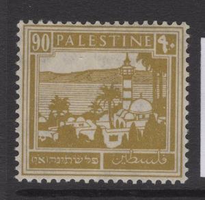PALESTINE SG101 1927 90m BISTRE MTD MINT