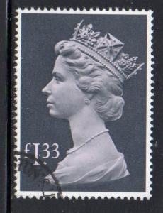 Great Britain Sc MH171 1984 £1.33 QE II Machin Head stamp used