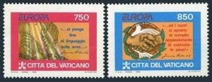 Vatican 971-972,MNH.Michel 1141-1142. EUROPE CEPT-1995.Peace-Freedom.Dove.