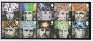 Great Britain Sc 2756a 2010 Royal Society stamp block of 10 mint NH
