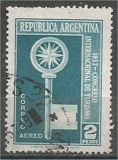 ARGENTINA, 1957, used 2p, International Congress, Scott C69
