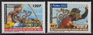 French Polynesia Scott #'s 821 - 822 MNH