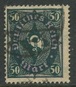 GERMANY. -Scott 184- Definitives -1921- Used - Wmk 126 - Single 50m Stamp