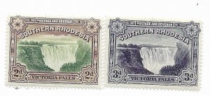 South Rhodesia #37-37A MH - Stamp - CAT VALUE $6.50