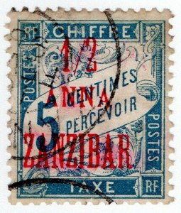 (I.B-CK) Zanzibar Postal : Postage Due (Chiffre) ½a on 5c OP