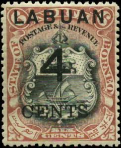 Labuan Scott #88a Mint    Perf 13 1/2-14