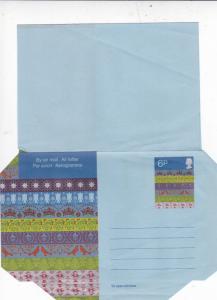 GB Christmas 6p Air letter Unused VGC