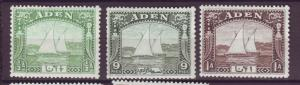 J20861 Jlstamps 1937 aden mh #1-3 boats