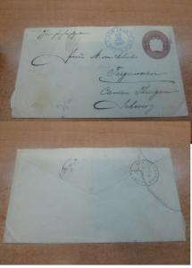 Costa Rica PSE 1897 10c to Switzerland, backstamps