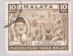 Malaya Federation 84 Used Tunku Rahman (BP22419)