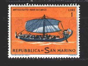 San Marino. 1963. 750 of the series. sailboat. MNH.