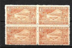 NEW ZEALAND 1900  1 1/2d  BOER WAR  MNH  BLK 4    CP E4a