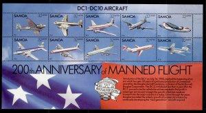 SAMOA QEII SG MS618, 1982 anniv of independence mini sheet, NH MINT.