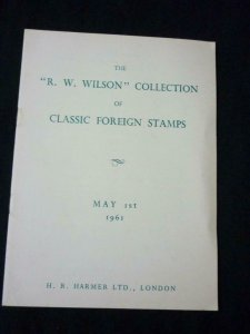 HR HARMER AUCTION CATALOGUE 1954 CLASSIC FOREIGN 'R W WILSON' COLLECTION