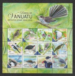 Vanuatu a 2012 MNH mini sheet birds theme