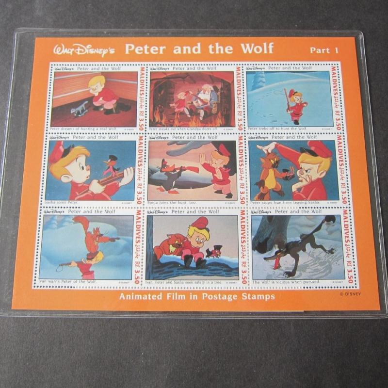 Peter and the Wolf Limited Edition int'l Collectors Postage Stamp #3103,#3549