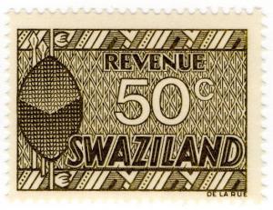(I.B) Swaziland Revenue : Duty Stamp 50c
