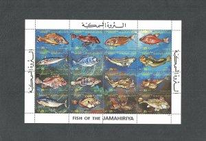 [SOLD] 1983 - Libya- Libye- Fish of the Jamahiriya- Poissons - Minisheet MNH**