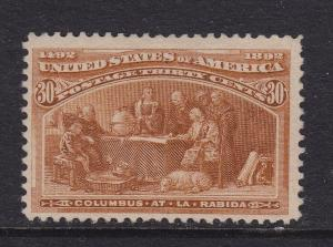 239 F-VF+ original gum previously hinged with nice color cv $ 240 ! see pic !