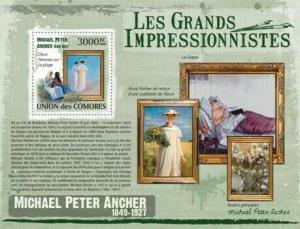 Comoros - Ancher Art -  Stamp S/S  - 3E-265