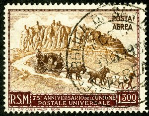 San Marino Stamps # C75 Used XF Scott Value $19.00