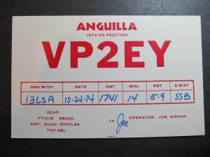 10490 Amateur Radio QSL Card DX PEDITION ANGUILLA