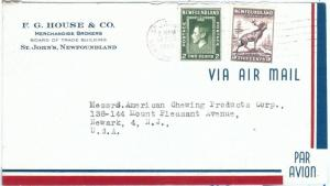 72396 -  NEWFOUNDLAND - POSTAL HISTORY:  AIRMAIL Cover to USA 1945