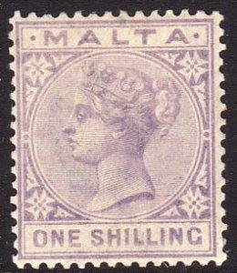 1885 Malta QV Queen Victoria 1/ issue Wmk 2 MLH Sc# 13 $60.00