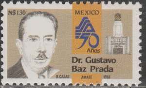 MEXICO 1823, MINISTRY OF HEALTH, 50th ANNIVERSARY. MINT, NH. VF.