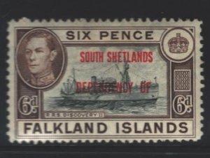 Falkland Islands Sc#5L6 MH - couple spots on gum