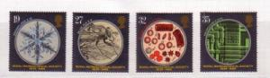 Great Britain Sc 1285-8 1989 Roy Microscopical Soc stamp set mint NH