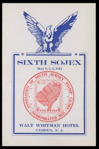 SOJEX 1941 (6th) Stamp Show - MINT, Never Hinged, F-VF or Better