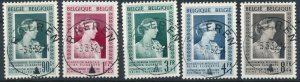 [1966] Belgium 1951 good Set very fine Used Stamps Value $61