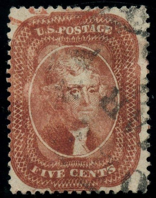 #27 FINE USED WITH RED & BLACK CANCELS CV $1,850 AU416