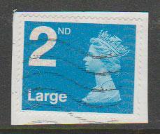 GB QE II Machin SG U2969 - 2nd brt blue -  M11L - Source  B
