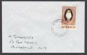 NORFOLK IS 1995 cover to New Zealand - 30c Owl..............................A714