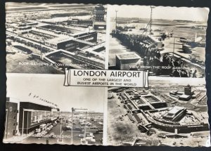 1959 Hounslow England Real Picture Postcard cover To Worthing London Airport Vie