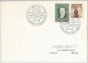 57796 -  NUCLEAR ENERGY -  AUSTRIA - POSTAL HISTORY:   POSTMARK  on  COVER 1953