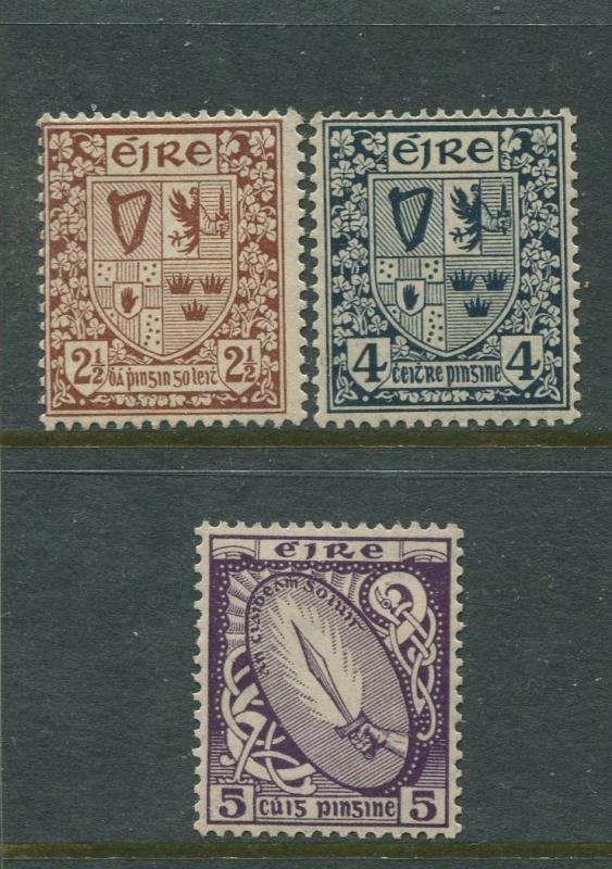 Ireland - Scott 69-71-72 - Definitive Issue -1922 - MH - 3 Stamps