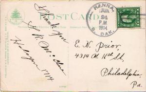 United States South Dakota Hanna 1914 4a-bar  1903-1923  PC.