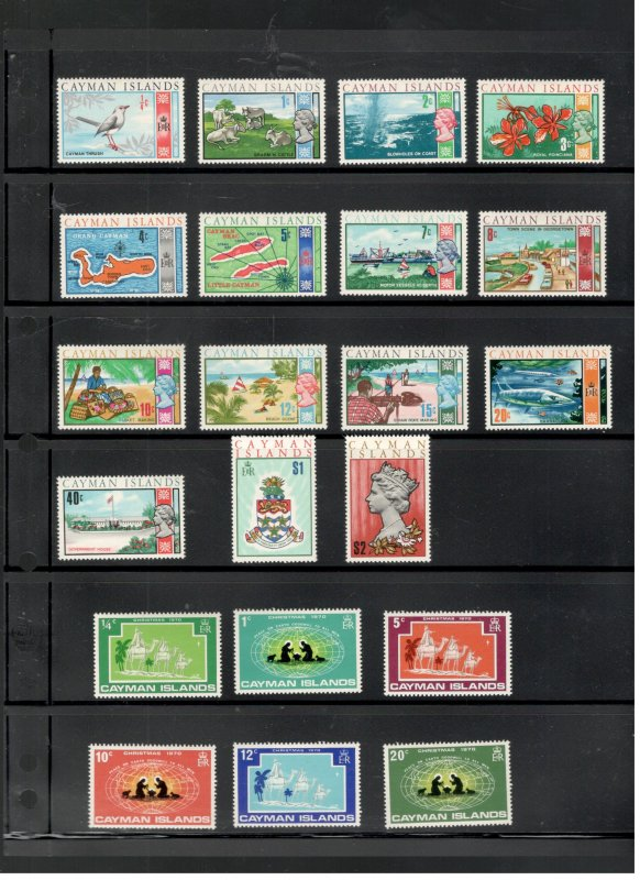 CAYMAN ISLANDS COLLECTION ON STOCK SHEET, ALL MINT