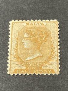 MALTA # 5a---MINT/NO GUM---YELLOW/BUFF---SINGLE---1865